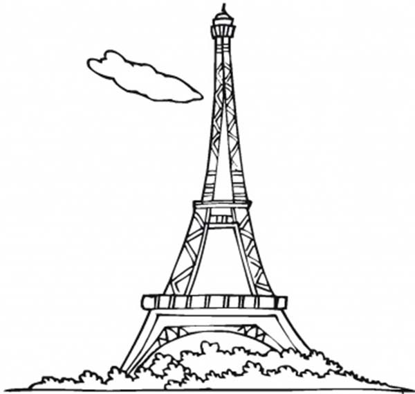 Eiffel Tower Coloring Pictures Free Printable