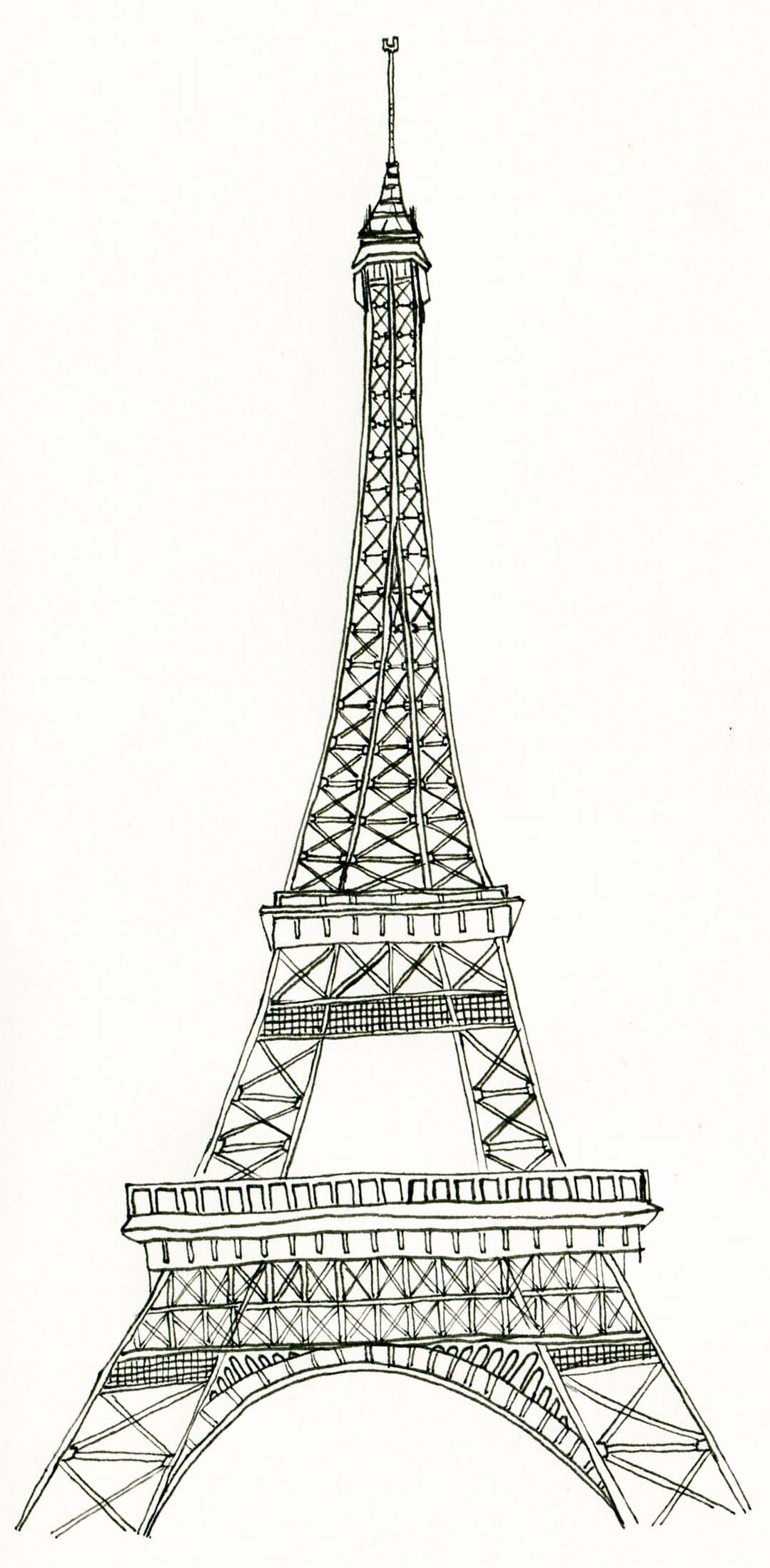 Eiffel Tower Coloring Sheets
