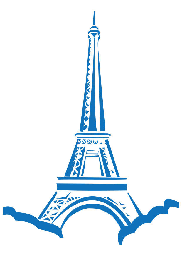 Eiffel Tower Picture to Color