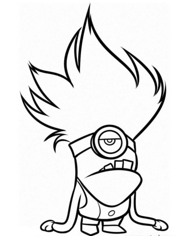Despicable Me Evil Minion Coloring Pages