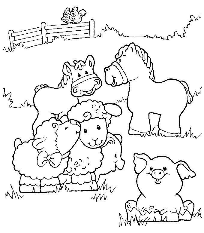 Farm Coloring Sheets