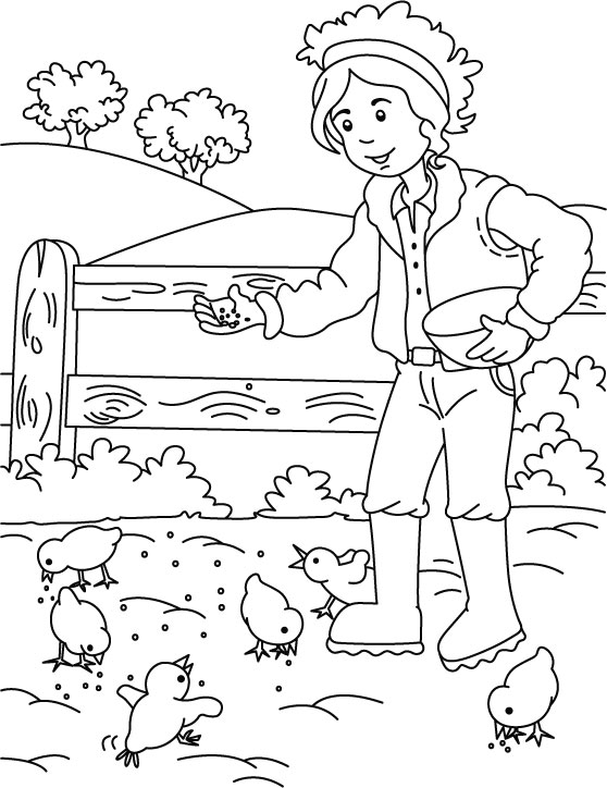 Farm Coloring Pages Preschool