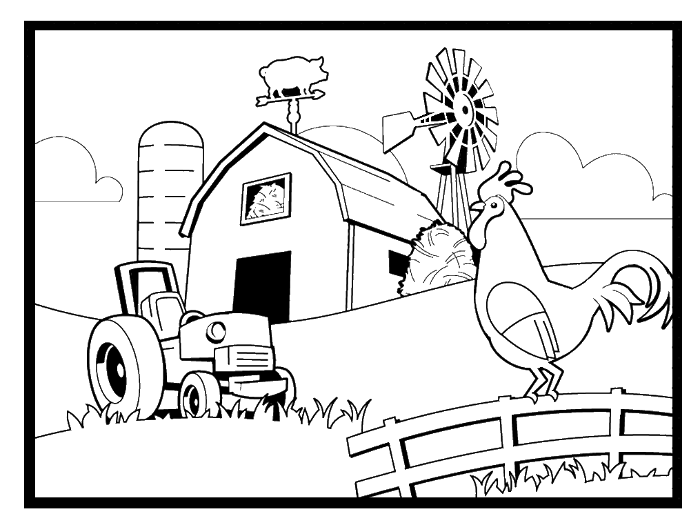 Farm Coloring Pages 360ColoringPages