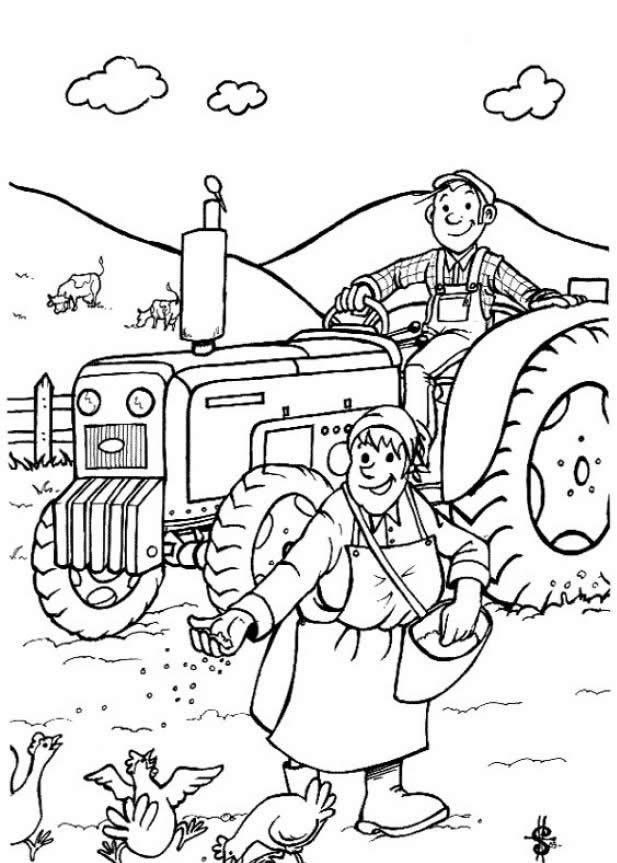 Farm Coloring Sheets Printable