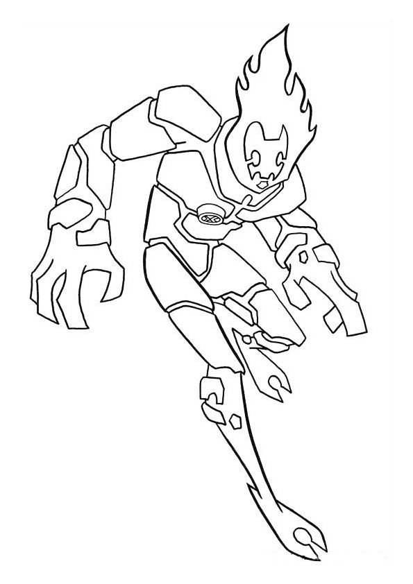 Ben 10 Coloring Images Free