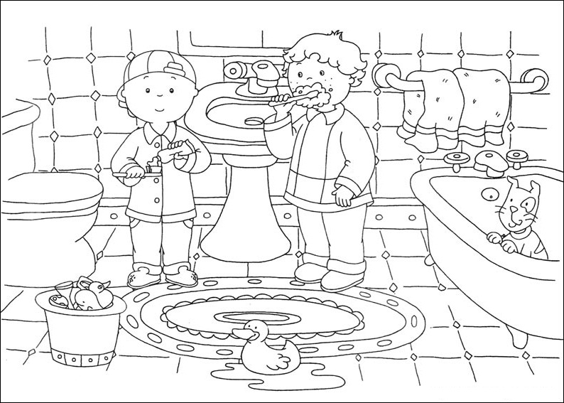 Caillou Coloring Pages Free Printable