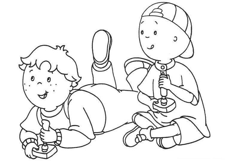 Caillou Coloring Pages to Print Free