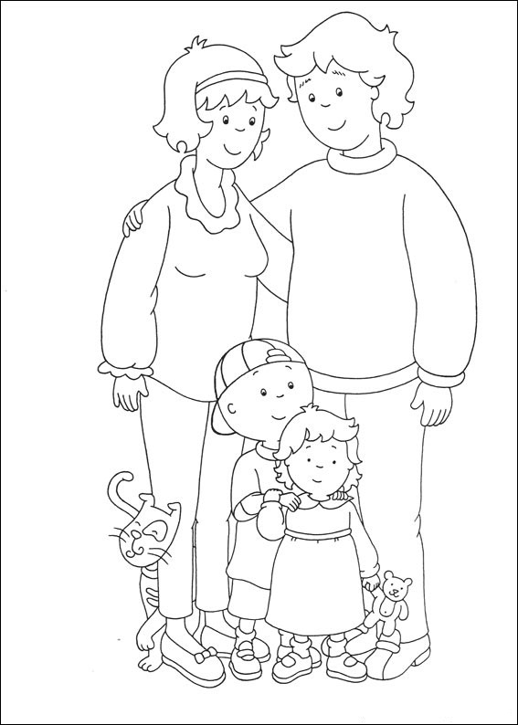 Caillou Coloring Pictures Free