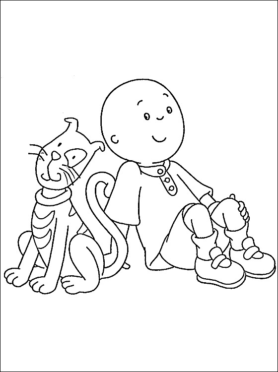 Caillou Coloring Sheets Free