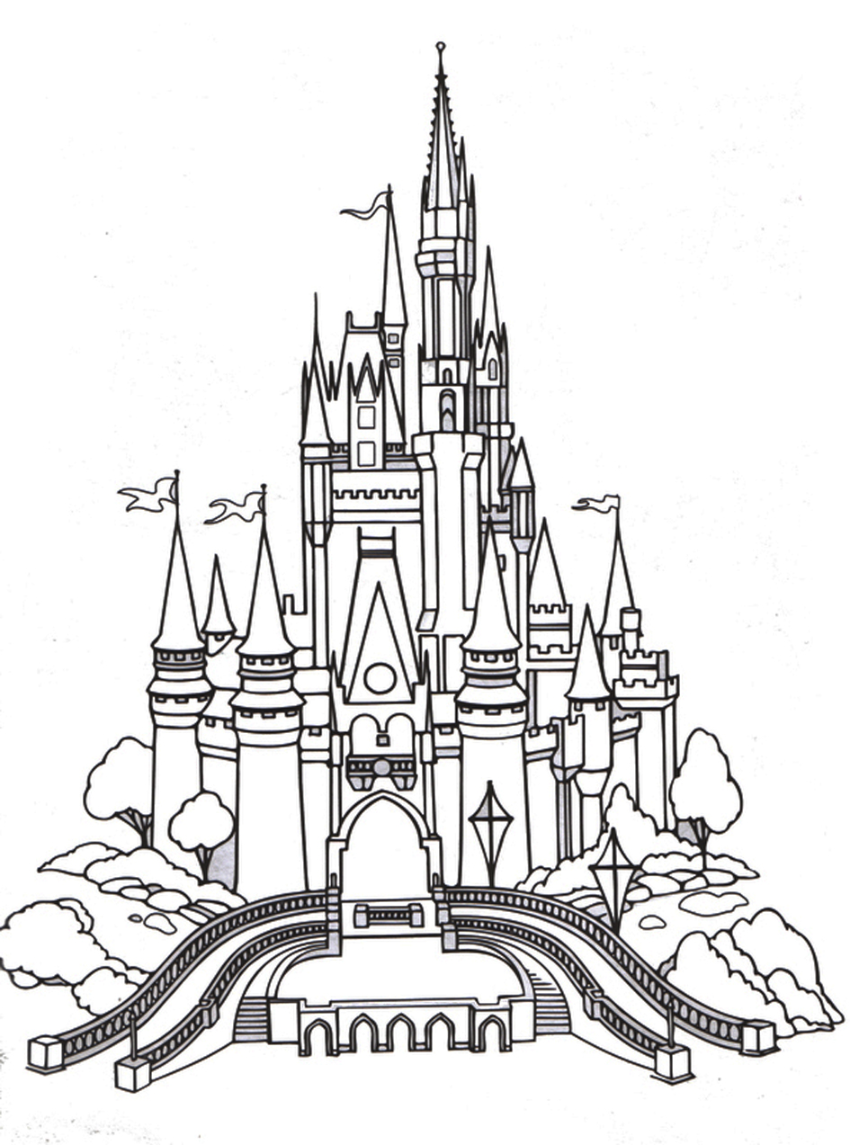Castle Coloring Pages for Adults