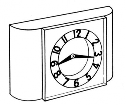 Clock Coloring Pages Free