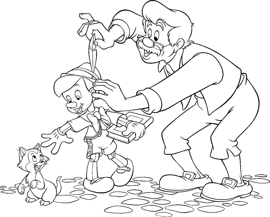 Coloring Pages Pinocchio Free