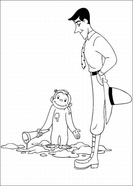 Free Curious George Coloring Pages to Print
