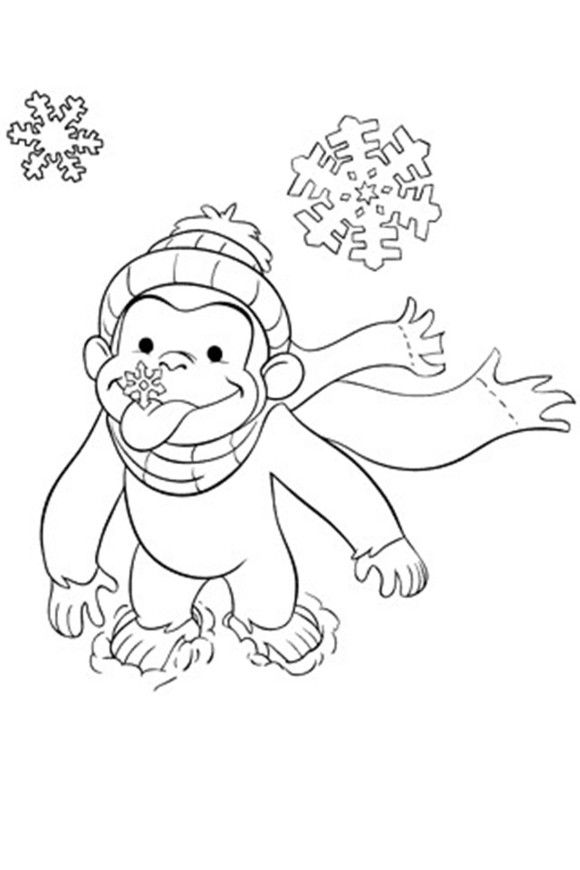 Curious George Coloring Pages Free