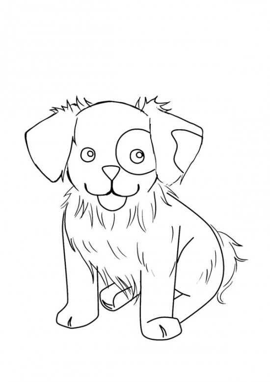 Cute Puppy Coloring Pages Free