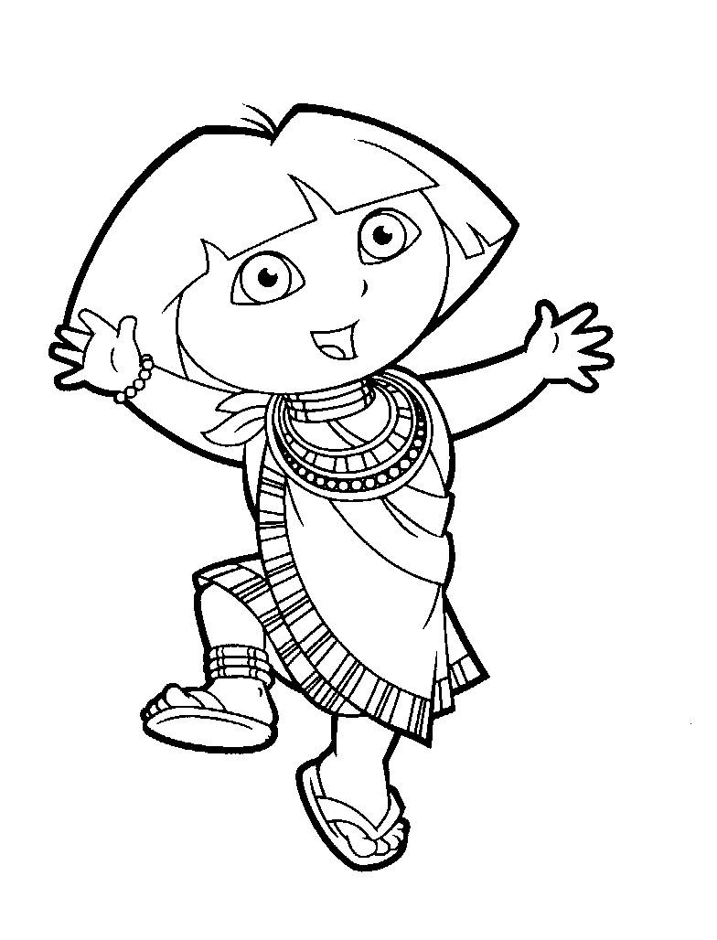 Free Dora Coloring Pages Kids