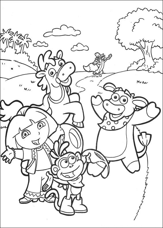 Free Dora Coloring Pages to Print Out