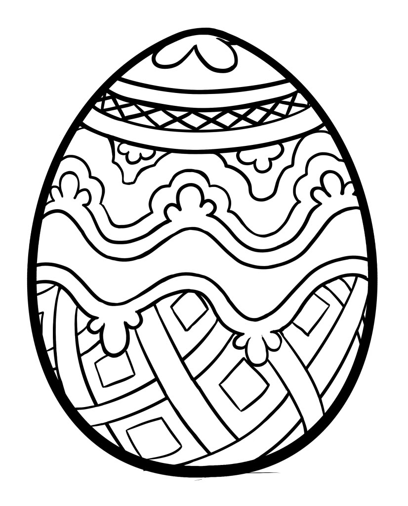 Easter Egg Coloring Pages Free Printable