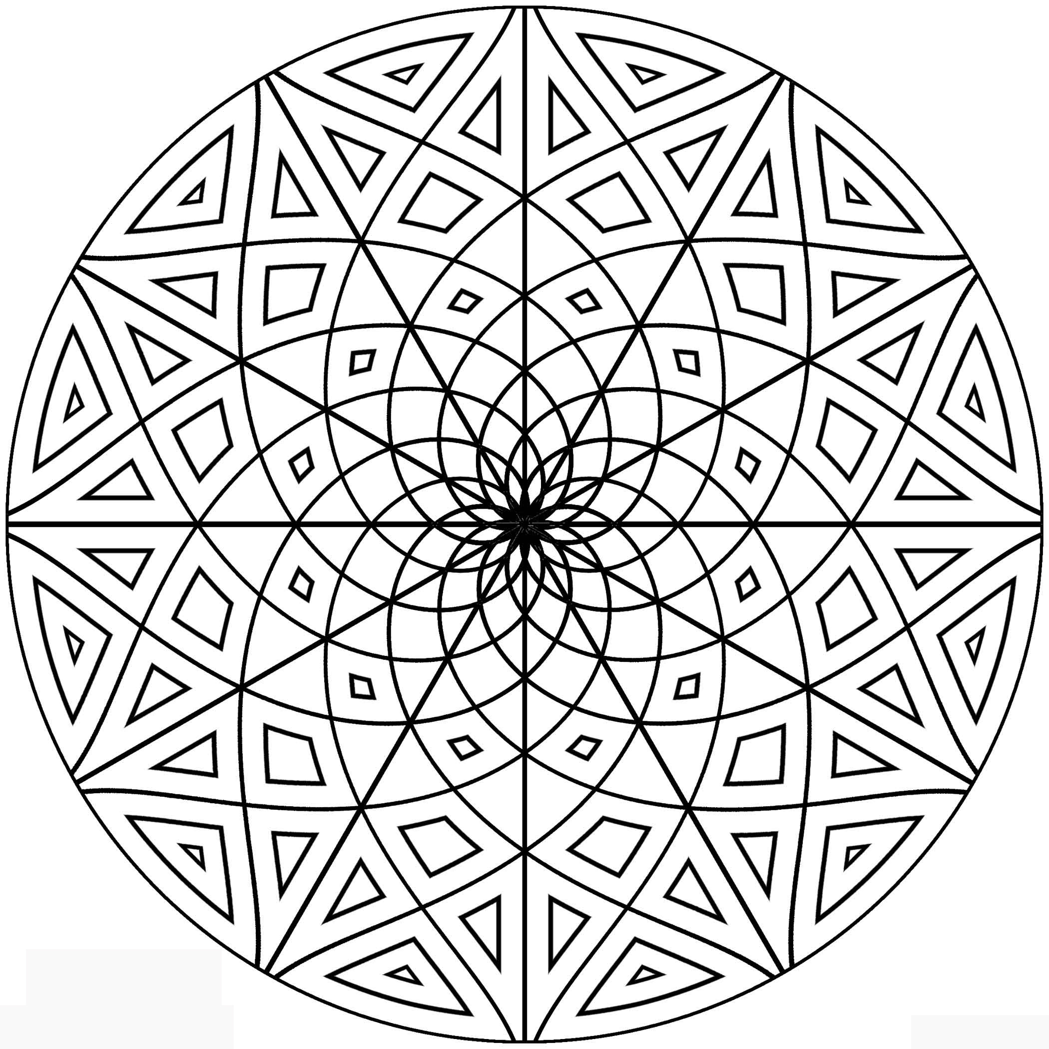 Geometric Pattern Coloring Pages Free