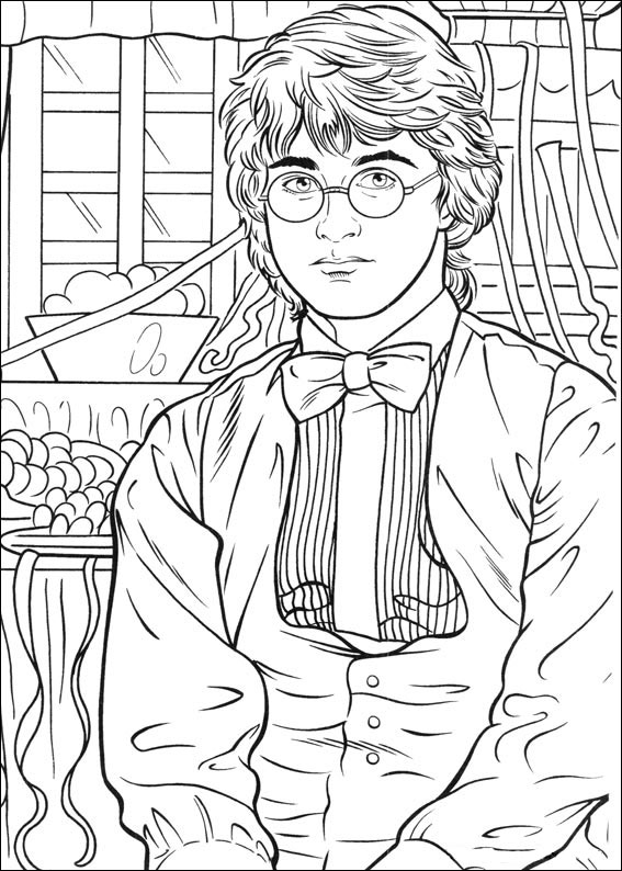 Harry Potter Picture To Color Coloring Pages Printable Free