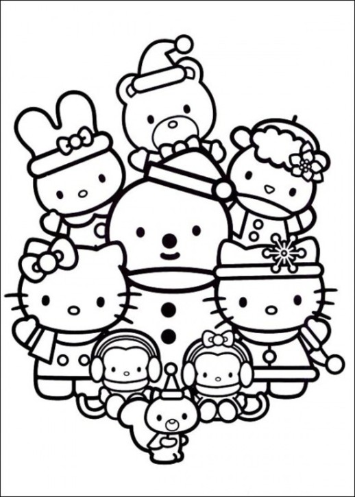 Cute Hello Kitty Coloring Page Sheets Free
