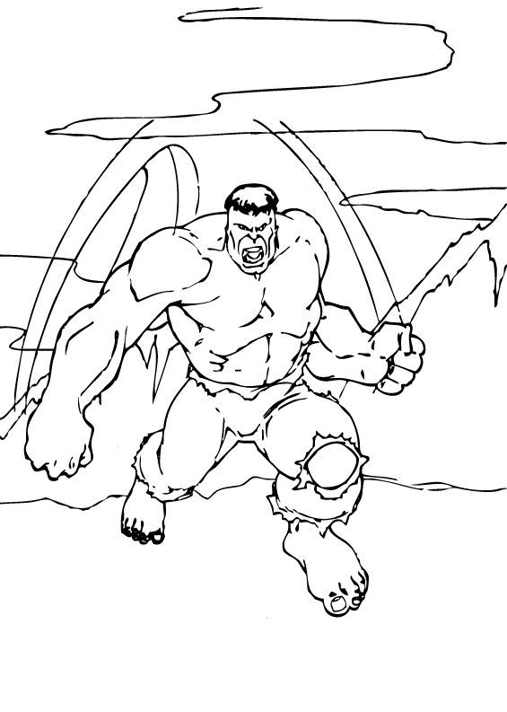 Hulk Coloring Pages to Print