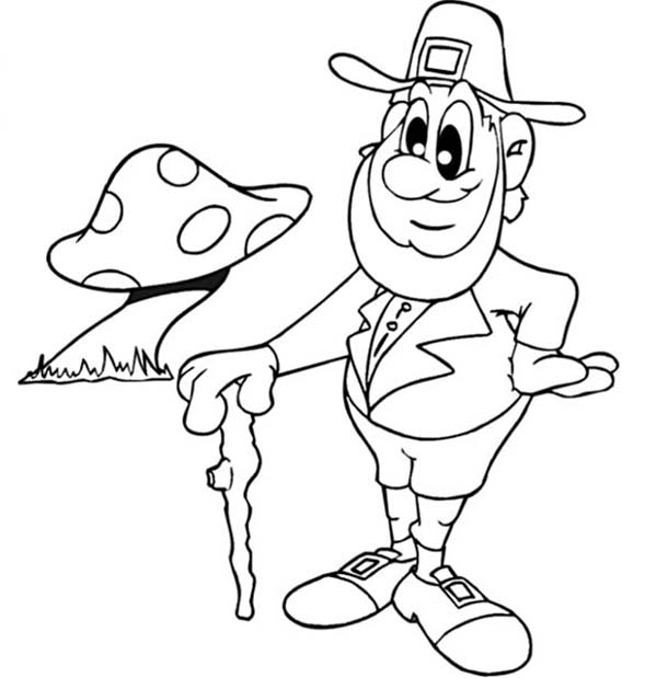 Leprechaun Coloring Sheets Free
