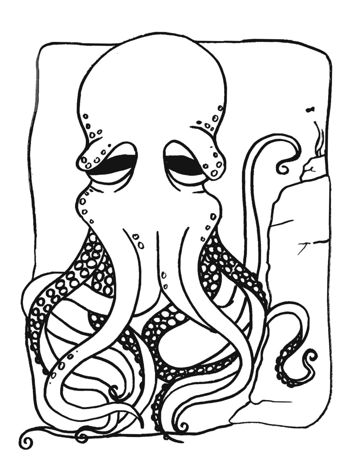 Free Octopus Coloring Pages Printable