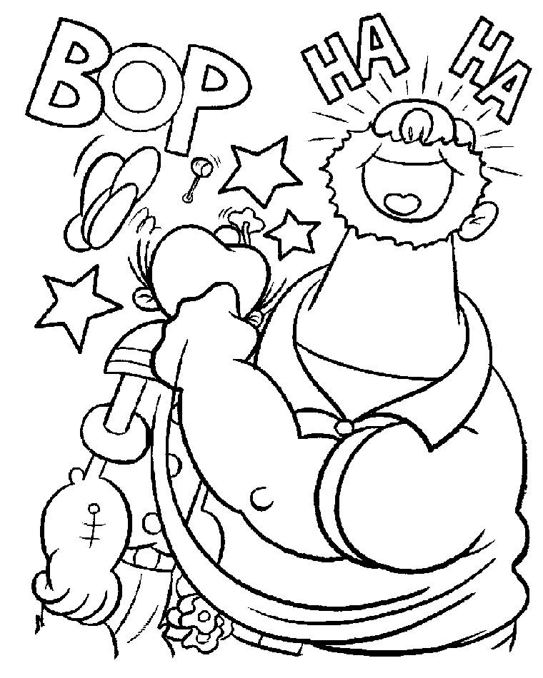 Popeye Coloring Pages Free