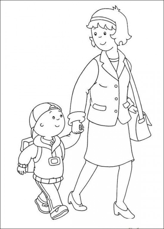 Caillou Coloring Sheets Free Printable