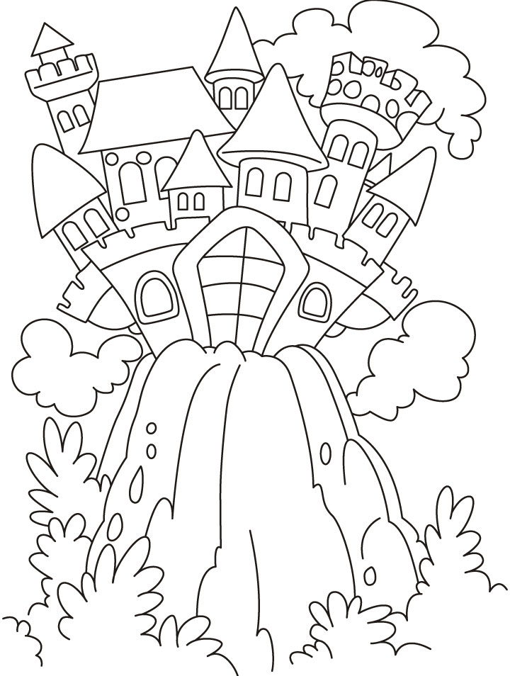 Castle Coloring Pages Free Printable