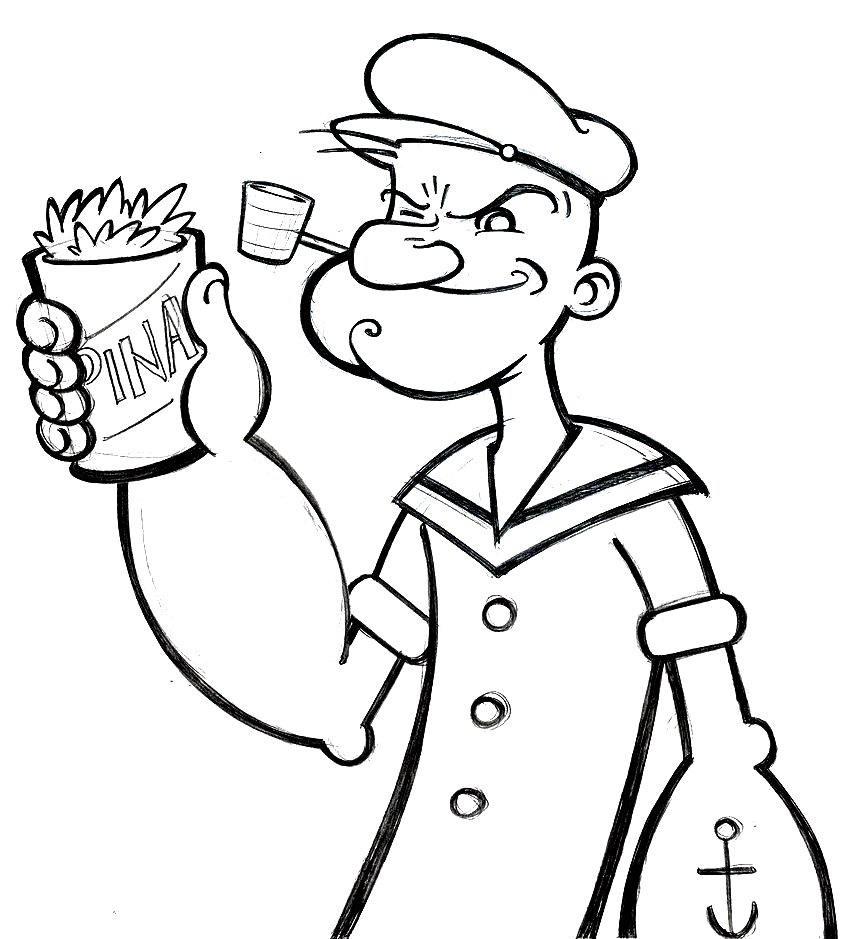 Popeye Coloring Pages Free Printable