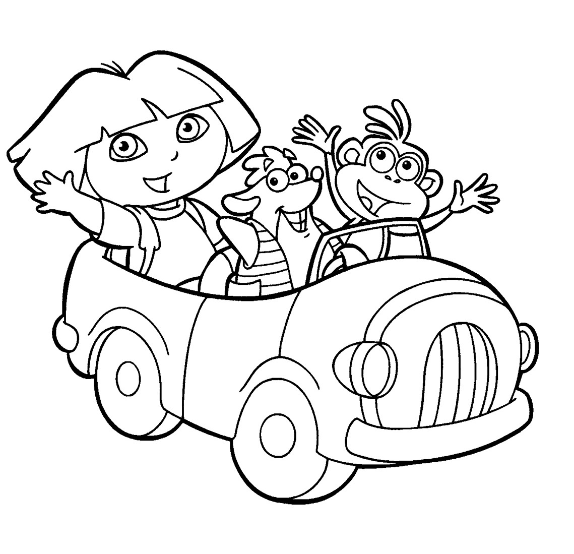 Dora Coloring Page Free Printable