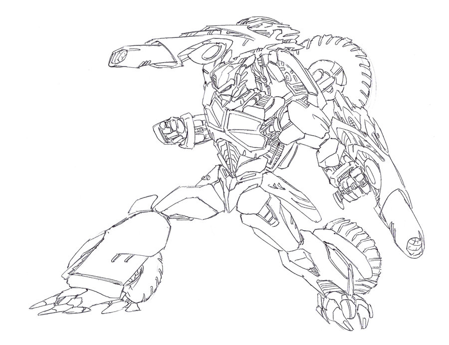 Halo 3 Elite Coloring Page - Free Coloring Pages Online | 692x900
