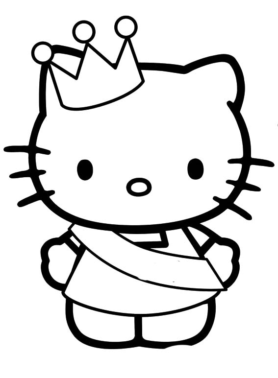 Cute Hello Kitty Coloring Sheet Printable Sheets