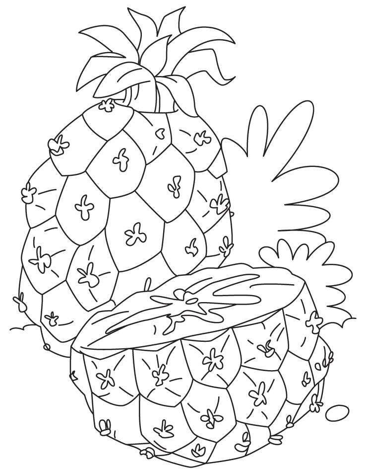 Pineapple Coloring Pages Free Printable