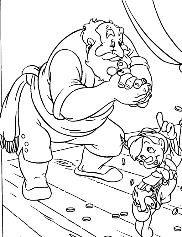 Pinocchio Coloring Pages Free Printable