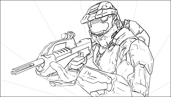 Halo Coloring Pages | ...