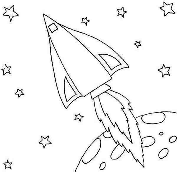 Printable Rocket Coloring Pages