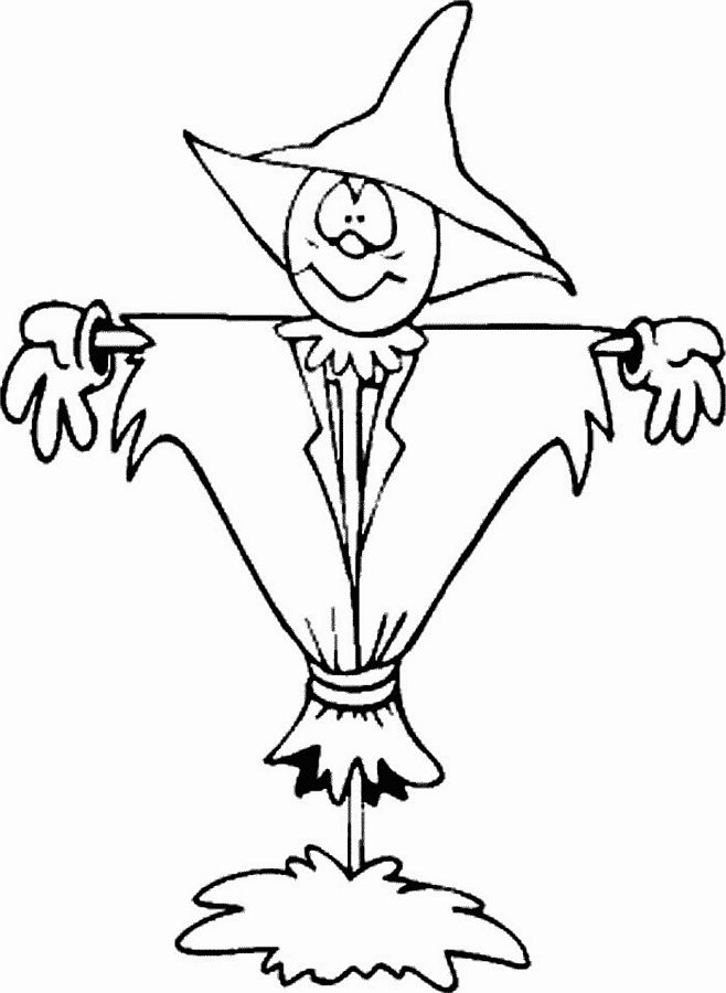 Printable Scarecrow Coloring Pictures