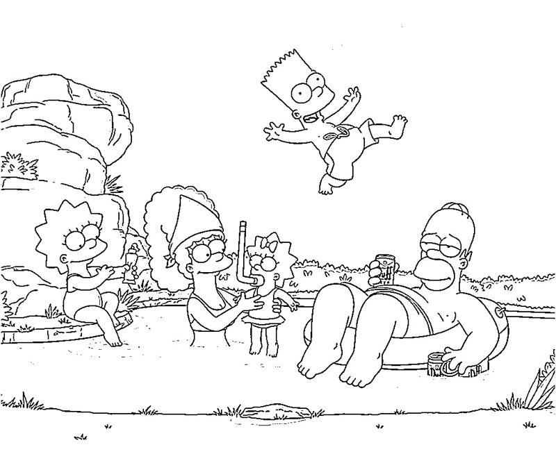 The Simpsons: Free online coloring pages for kids | 667x800