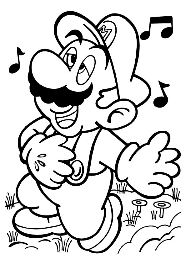 This is a picture of Monster Printable Mario Coloring Pages
