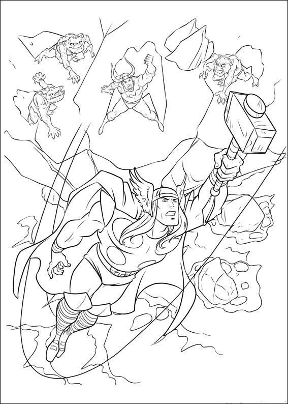 Printable Thor Coloring Pages