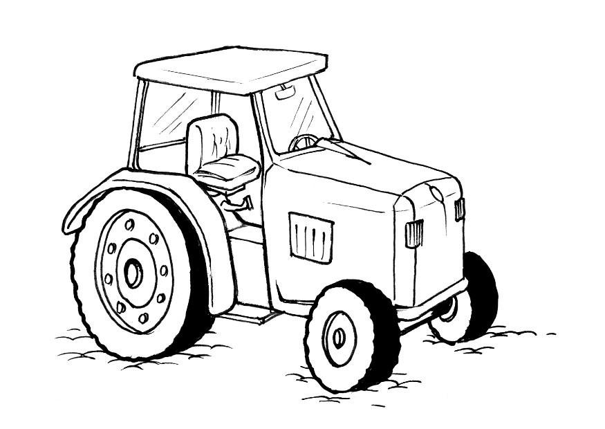 Free Printable Tractor Coloring Sheet