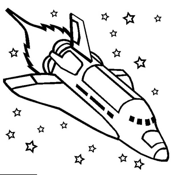 Free Printable Rocket Coloring Pages