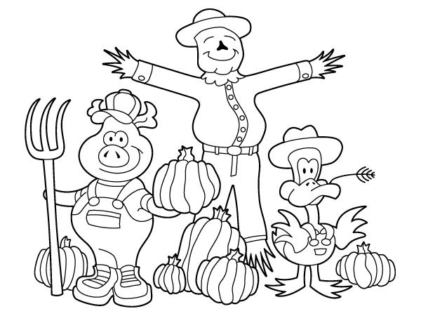 Scarecrow Coloring Pages Free Printable