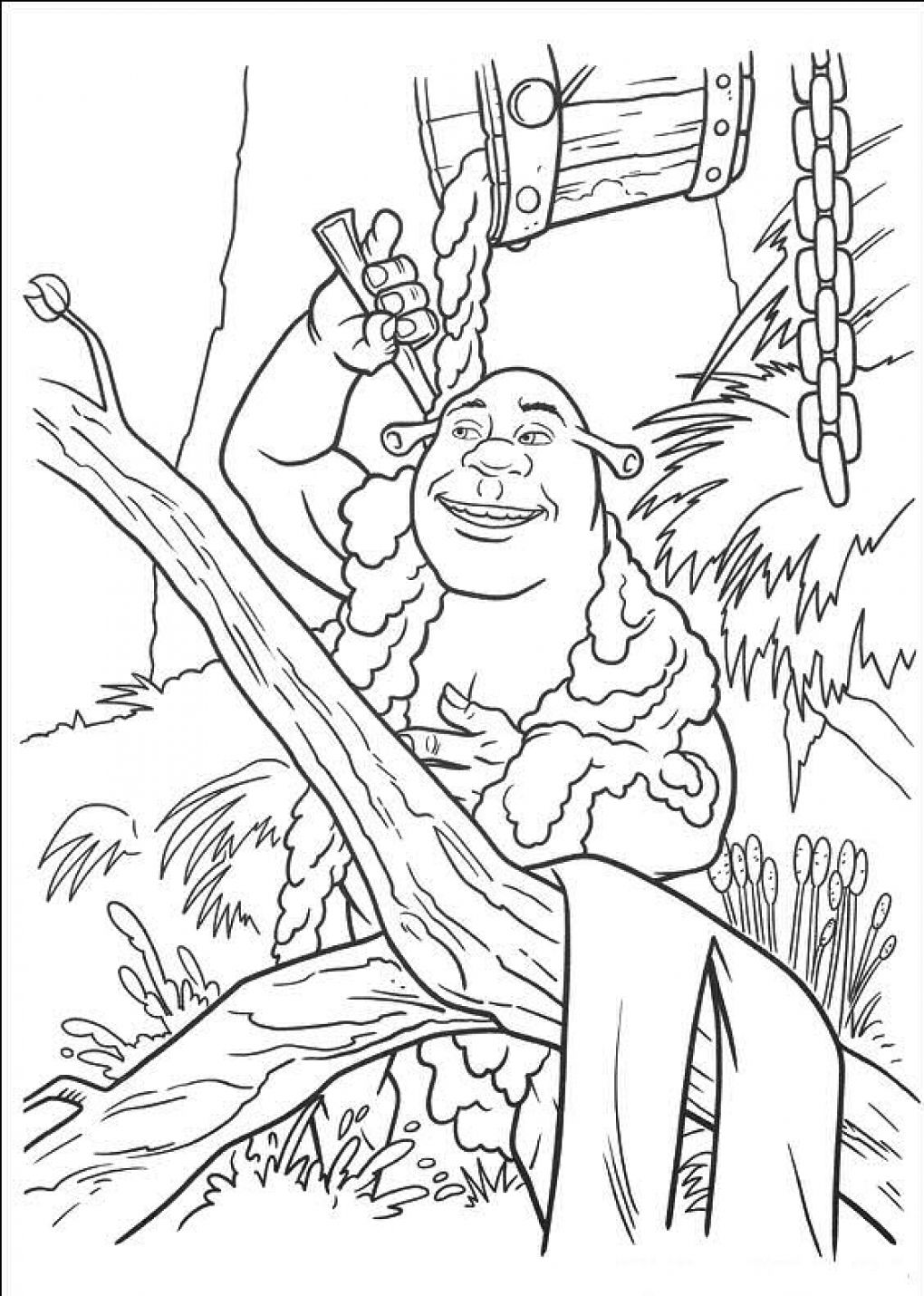 Free Shrek With Babies Coloring Pages, Download Free Clip Art ... | 1430x1020