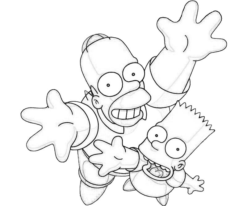Simpsons Coloring Sheets Free