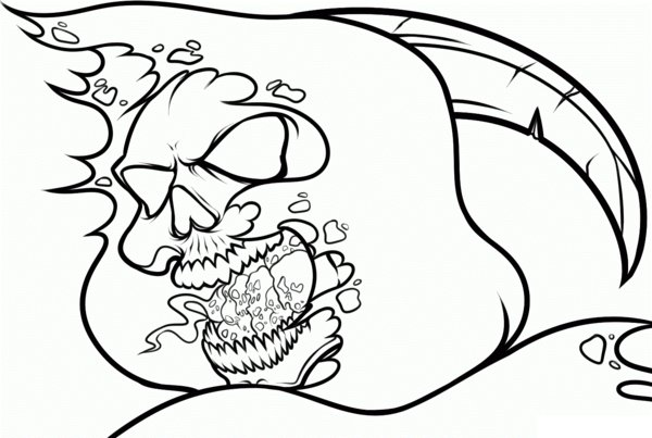 Skull Coloring Pages Free Print