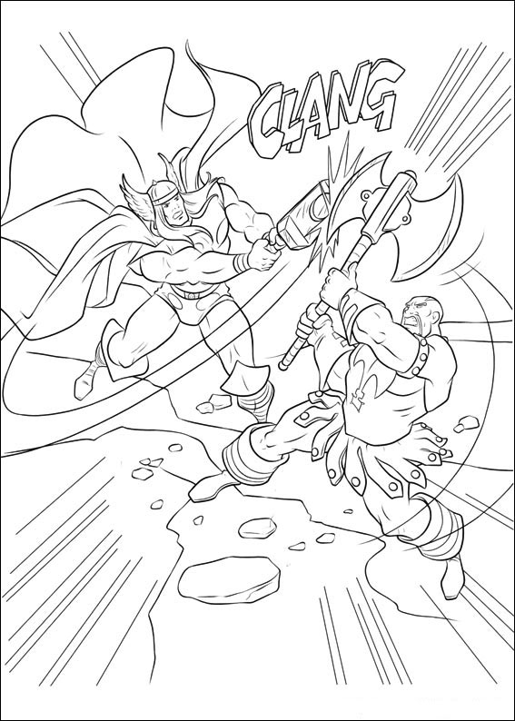 Free Thor Coloring Pages